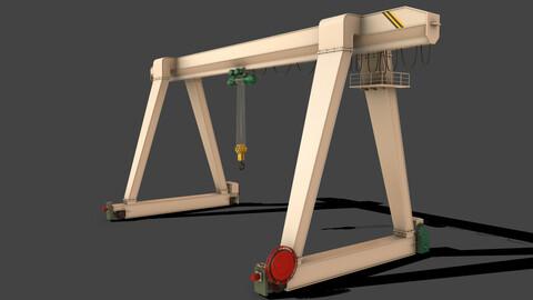 PBR Single Girder Gantry Crane V1 - WHITE