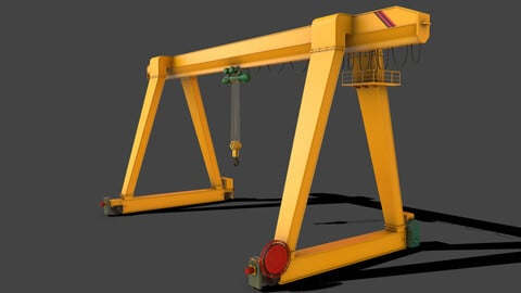PBR Single Girder Gantry Crane V1 - YELLOW