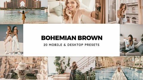 20 Bohemian Brown LUTs and Lightroom Presets