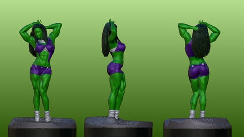 She Hulk V2 Art Concept in Zbrush 2021