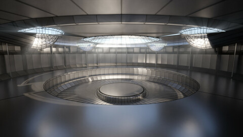 sci-fi showroom 3D model