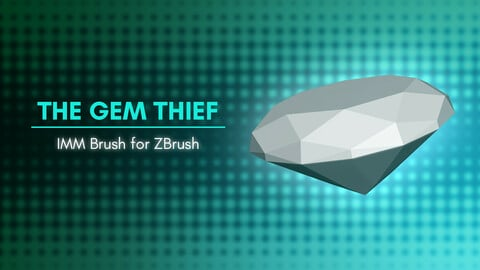 [IMM Brush] The Gem Thief IMM Brush for ZBrush 2021