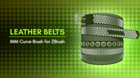 [IMM Brush] Leather Belts Curve Brush for ZBrush 2021
