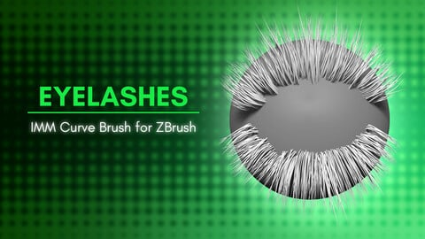 [IMM Brush] Realistic and Cartoon Eyelashes Curve Brush Pack for Zbrush 2019