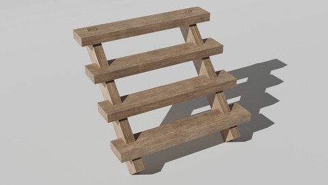 Wooden Stairs - Wooden Steps