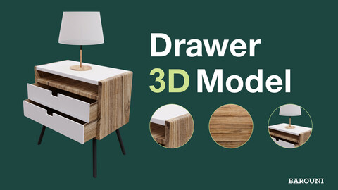 Drawer - Nightstand 3D model