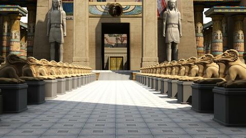 Egyptian Pharonic Palace Exterior