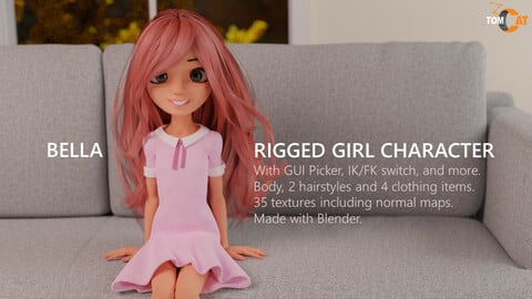 Bella Rigged Girl Character
