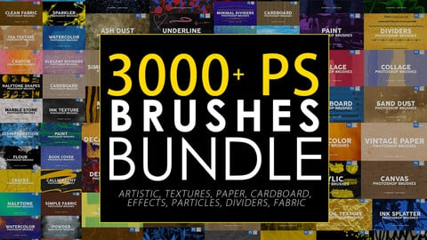 3000+ Photoshop Stamp Brushes Bundle