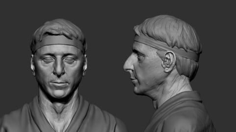 Billy Zabka Bust 3D model sketch