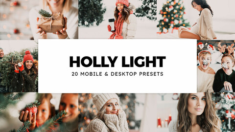 20 Holly Light LUTs and Lightroom Presets