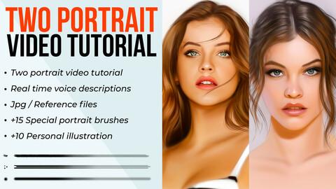 Two - Portrait video tutorial bundle