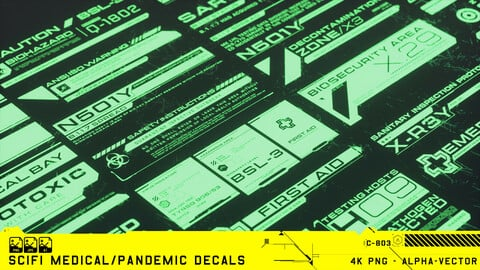 SCIFI MEDICAL/PANDEMIC DECALS