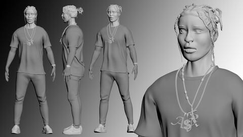 ASAP Rocky Miniature Model | 3D Printable