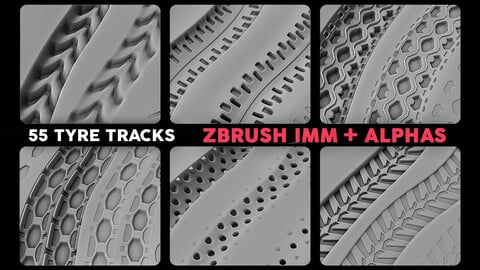 55 Ultimate Tyre Tracks Pack Vol.1