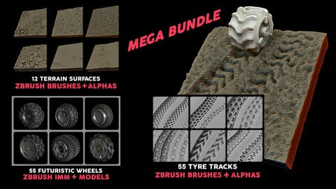 Explorer Ultimate Bundle (wheels + tyre tracks + terrain surfaces)