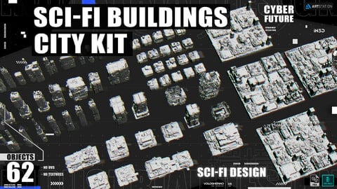 SCI-FI BUILDINGS CITY KIT