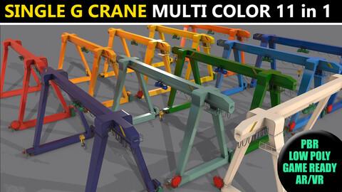 PBR Single Girder Gantry Crane V1 - Multi color Pack