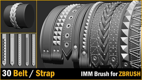 30 IMM Belt / Strap  Brush for Zbrush
