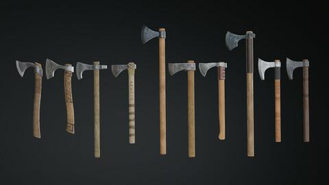Medieval Ax Set 01