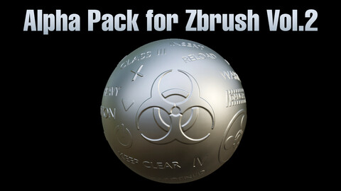Alpha Pack for Zbrush Vol.2