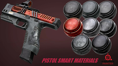 Pistol Smart Materials Substance Painter