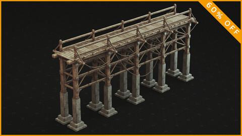 Medieval Bridge 3D Model / PBR Textures