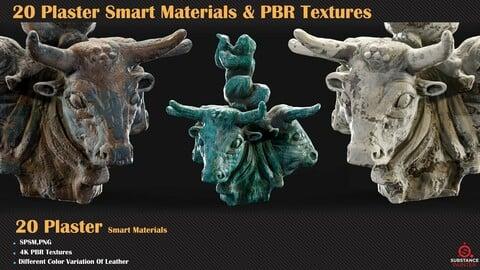 20 Plaster Smart Materials + PBR Textures