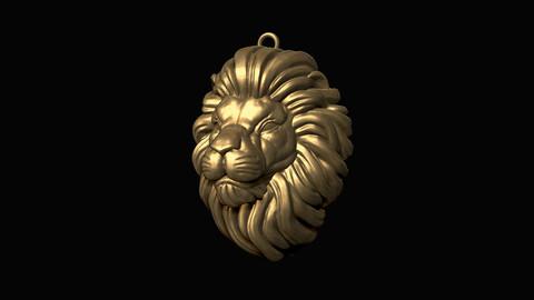 Lion Head Pendant 3D print model