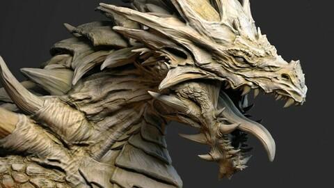 Dragon Bust Print