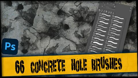 66 Concrete Hole Brushes