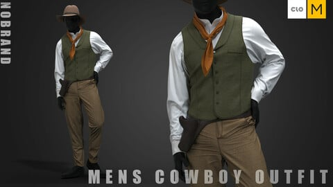 Mens - Cowboy Outfit