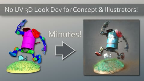 No UV 3D Look Dev for Concept & Illustration