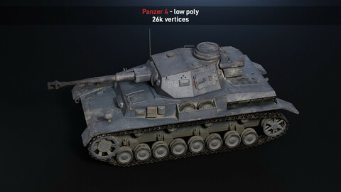 Panzer 4 lowpoly