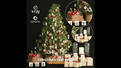 3dasset christmas tree decor