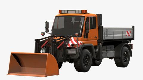 Unimog U500 Front Loader Truck