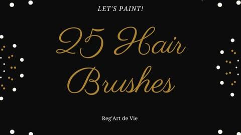 25 Hair Brushes + Hair color Palette