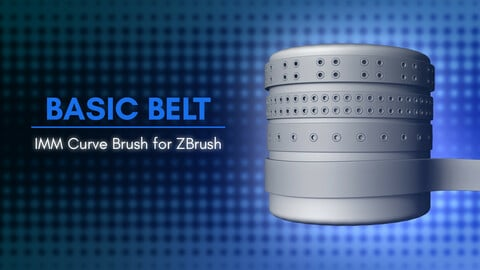 [IMM Brush] Basic Belt Curve Brush for Zbrush 2021