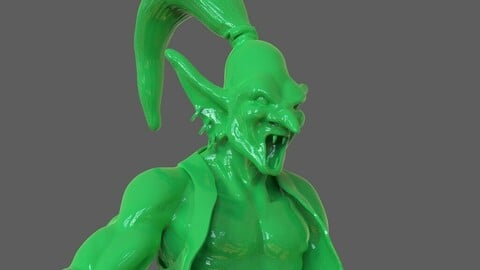 Djinn Genie Sculpture 3D Print + Timelapse