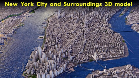 New York City and Surroundings 3D model