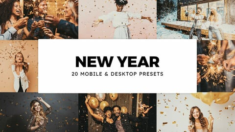 20 New Year LUTs and Lightroom Presets