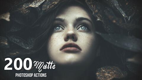 200 Matte Photoshop Actions