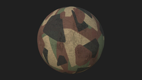 Camo Rounded Triangles Pattern