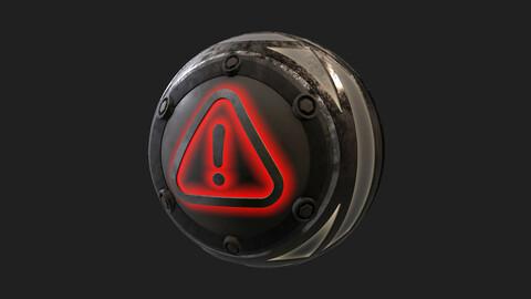 Emergency Warning Metallic Panel