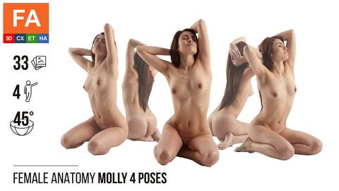 Female Anatomy | Molly 4 Kneeling Poses #1 | 33 Photos