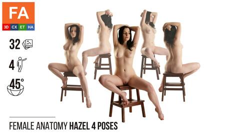 Female Anatomy | Hazel 4 Sitting Poses #1 | 32 Photos