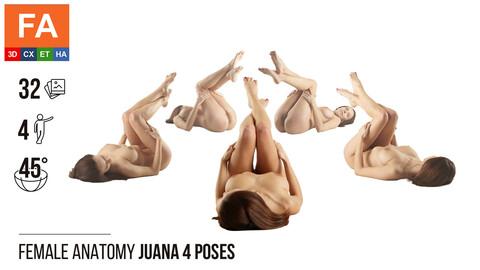 Female Anatomy | Juana 4 Laying Poses #1 | 32 Photos
