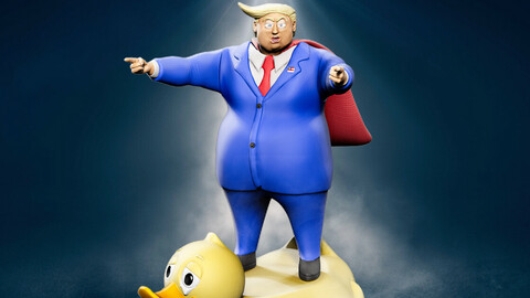Lame-Duck: Donald Trump for 3D printing