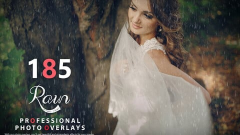 185 Rain Photo Overlays