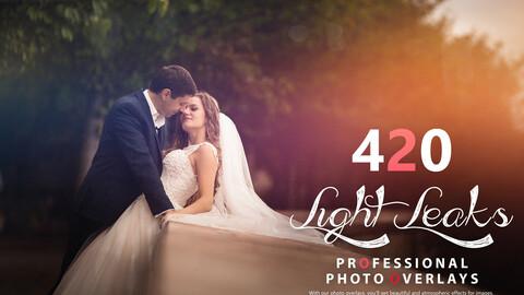 420 Light Leaks Photo Overlays